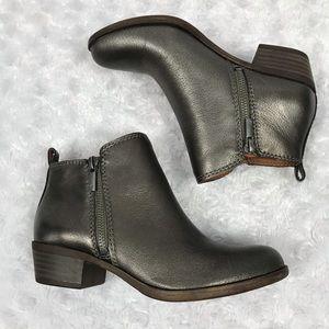 Lucky Brand Metallic Double Zip Ankle Booties
